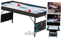 Fat Cat Polar Blast 6 Air Hockey Table with Folding Legs for Easy Storage and I