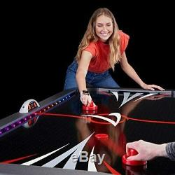 Fat Cat Volt 7' LED Illuminated Air Hockey Table with Dual Motor Action