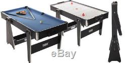 Folding 5ft Pool & Air Hockey Table