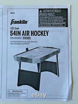 Franklin 54 Quikset Air Hockey Table Blue And White Model 54200X Indoor Fun NEW