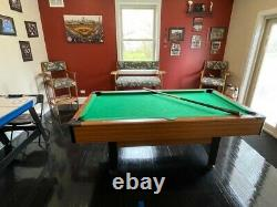 Game room sale includes Pool table, pool chairs and air hockey game