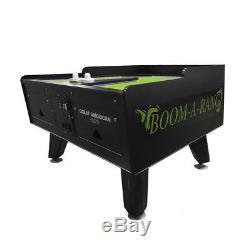Great American Boom A Rang Black/Green Coin op Air Hockey Table w Scoring Unit