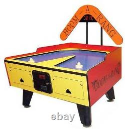 Great American Coin Operated Boom-A-Rang Air Hockey Table WithElectronic Scoring
