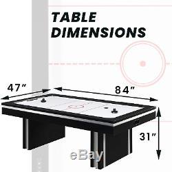 Hanover 2 Player Electric Air Hockey Table, Black