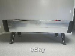 Harvard Large Air Hockey Table, black with silver trim, 4' x 7.5' x 2.5