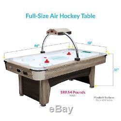 Harvil Beachcomber 7 Feet Indoor Air Hockey Table with Overhead Scorer