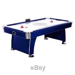 Hathaway 7.5 ft. Phantom Air Hockey Table with Electronic Scoring, Dark Blue