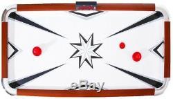 Hathaway Air Hockey Family Game Table 6 ft Electronic LED Scoring Striker Pucks
