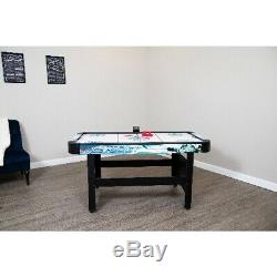 Hathaway Face-Off Air Hockey Game Table, 5-ft, White/Blue