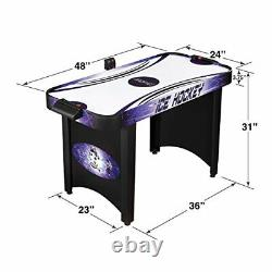 Hathaway Hat Trick 4-Ft Air Hockey Table for Kids and Adults with Electronic