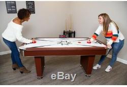 Hathaway Midtown 6 ft Air Hockey Game Table Electronic Scoring Strikers Pucks