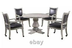 Hathaway Montecito Dining and Poker Table Set Rec Room Man Cave Driftwood @@