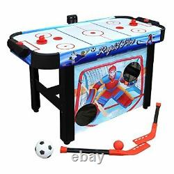 Hathaway Rapid Fire 42-in 3-in-1 Air Hockey Multi-Game Table with Soccer and