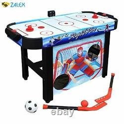 Hathaway Rapid Fire 42-in 3-in-1 Air Hockey Multi-Game Table with Soccer and Hoc