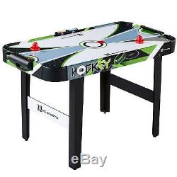 Hockey Table Game with LED Electronic Scorer 48 In Portable Compact Air Powered