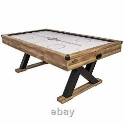 Kirkwood 84 Air Powered Hockey Table with Rustic Wood Finish, K-Shaped Legs