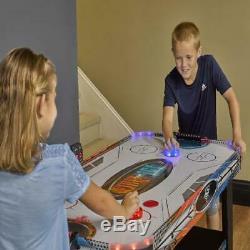 LED Light-Up 54 Air Hockey Table Game Includes 2 LED Hockey Pushers LED Puck US