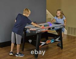 LED Light-Up 54 Air Hockey Table Includes 2 LED Hockey Pushers and LED Puck