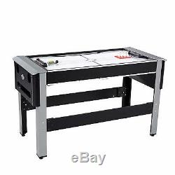 Lancaster 4 In 1 Bowling, Hockey, Table Tennis, Pool Arcade Game Table, Black