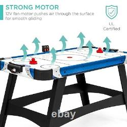 Large 58in Air Hockey Table GameRoom Office LED Score Board with2 Pucks 2 Pushers