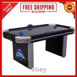 Lumen-X Lazer Interactive Air Hockey Table with All-Rail LED Lighting Game Music