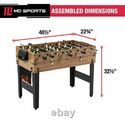 MD Sports 48 3 In 1 Combo Game Table, Pool, Hockey, Foosball, Accessories