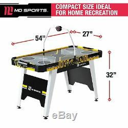 MD Sports 54 Inch Air Powered Hockey Table with Overhead Electronic Scorer