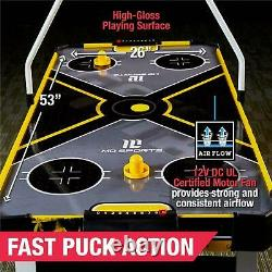 MD Sports 54 Inches Air Hockey Game Table With Overhead Electronic Scorer Yellow