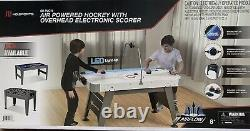 MD Sports 60 Air Powered Hockey Table with Overhead LED Scorer