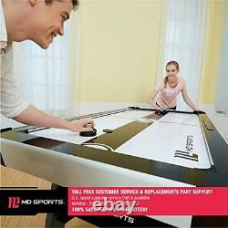 MD Sports Air Hockey Table for Adults and Kids with LED Lights and Sound Effe