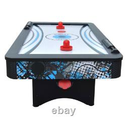 MINI AIR HOCKEY GAME TABLE SET Tabletop Compact Basketball Hoop Blue Black 42