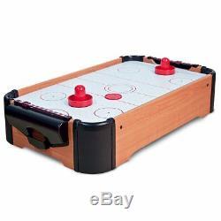 MINI TABLE-TOP AIR HOCKEY GAME PUSHERS CHILDREN's KIDS FAMILY FUN XMAS