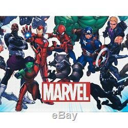 Marvel Universe Air Hockey Table Red, Blue, Black