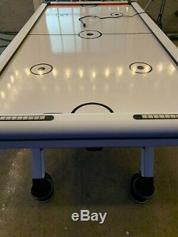 Medal Sports 89 inch Electronic Powered Air Hockey Game Table with LED Scorer