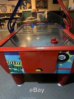 Mini SLAPSHOT SAM Home Arcade Air Hockey Table ICE