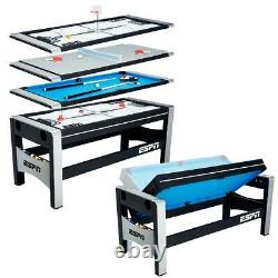 Multi-Game Entertainment Table for Kids Teen Air Hockey Ping Pong Billiards Pool