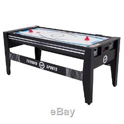Multi Game Swivel Table 4 in 1 Billiards Table Tennis Air Hockey Launch Football