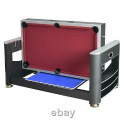 Multi Game Table Billiards + Air Hockey + Table Tennis + Full Set of Accessories