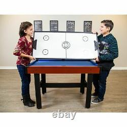 NEW 48Inch Multi Game Table 3-in-1 with Glide Hockey, Pool and Table Tennis