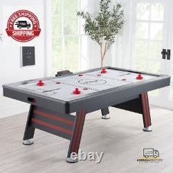 NEW Air Hockey Table with High End Blower, 84 inch, Red and Black