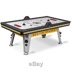 NHL Air Powered Hockey Table Boston Bruins 84 Inch Features Scratch and