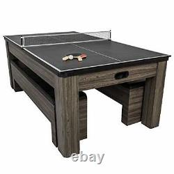 Northport 3-in-1 Dining Table with Air-Powered Hockey and Table Tennis