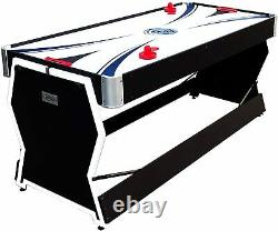 PUCK CYCLONE MULTI-GAME 3-in-1 Air Hockey Billiards Table Tennis Game Table NEW