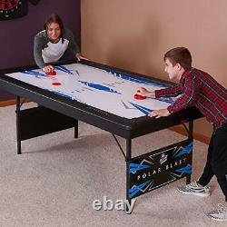 Polar Blast 6 Air Hockey Table with Folding Legs for Easy Storage and