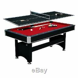 Pool Table Billiards 6 Foot Felt Cloth Dining Balls Game Cues Room Dorm 72 inch