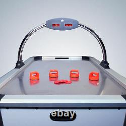 Premium 6ft Air Hockey Table Large with Pucks Overhead Scoreboard Indoor Game