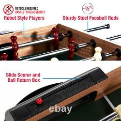 SLIDE HOCKEY BASKETBALL FOOSBALL GAME TABLE 48 5-in-1 Accessories Included