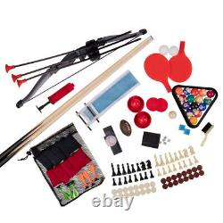 SLIDE HOCKEY BASKETBALL TABLE TENNIS GAME TABLE 48 13-in-1 Accessories Included