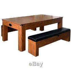 Sherwood NG2422H 7-ft Air Hockey Table with Benches