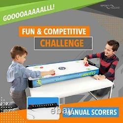 Sport Squad HX40 40 inch Table Top Air Hockey Table for Kids and Adults Ele